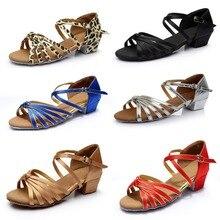 Танцевальная обувь латинская Женская Сальса Латинская танцевальная обувь Танцевальные Кроссовки Бальные Танцевальные Туфли для девочек обувь для латинских танцев C02D