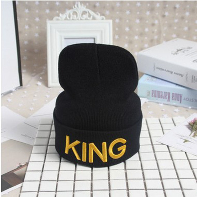 King Queen Beanie Set