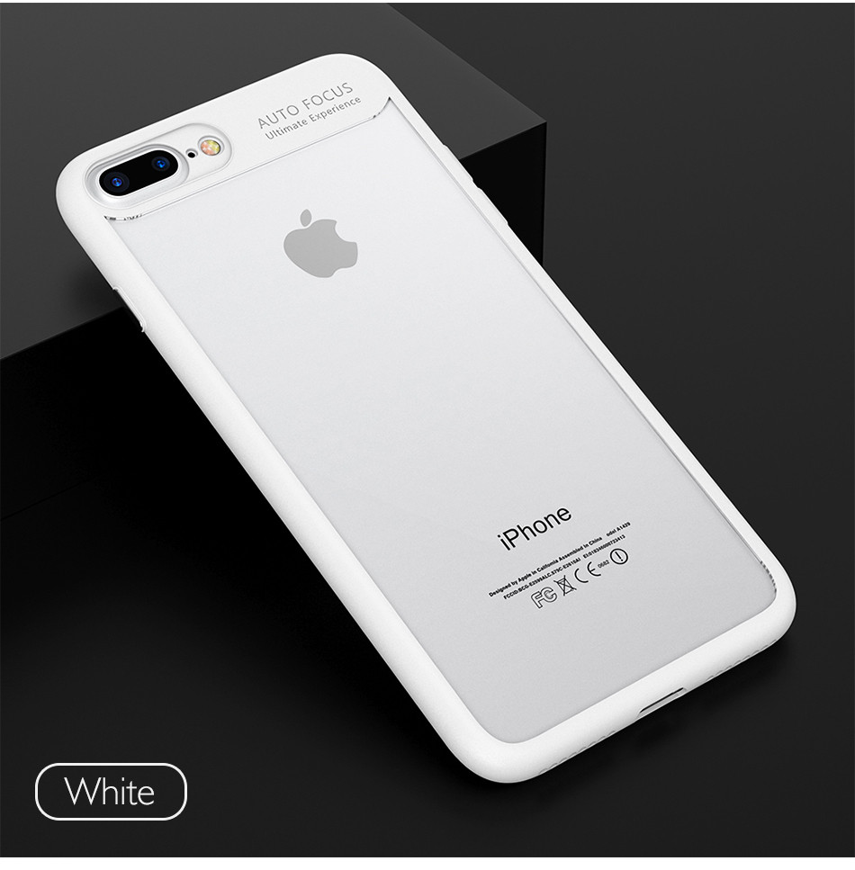 Ultra Thin Phone Case For iPhone 7 6S 6 Plus High Clear Acrylic Soft TPU YYF (3)