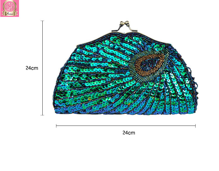 2018 Women Evening Bags Luxury Designer Clutch Wedding Bags Party Clutch Beaded Sequined Purses Peacock Retro2018 Women Evening Bags Luxury Designer Clutch Wedding Bags Party Clutch Beaded Sequined Purses Peacock Retro