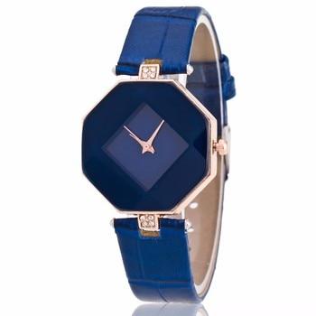 Модные Роскошные кожаным ремешком Элегантные классические Повседневное аналоговый Бизнес кварцевые наручные часы
