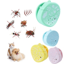 Ultrasonic Electronic Pet Dod Cat Repeller Reject Mosquito Pest Control Bug Noiseless Fleas Sign Repellent Collars 4 Colors