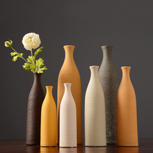 Europe Ceramic Vase Minimalist colorful Porcelain flower vases arts and crafts tabletop flowerpot bottle home decoration