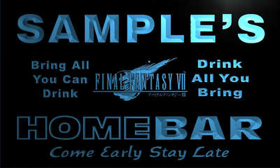 r041-tm Final Fantasy VII FF7 Personalized Custom Name Home Bar Beer Neon Sign Wholesale Dropshipping On/Off Switch 7 Colors DHL