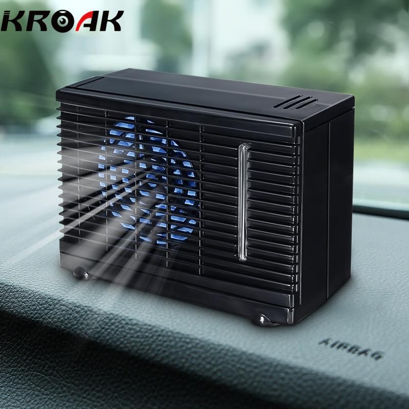 imágenes para 12 V 35 W Input Dual Portable Power Mini Hogar Refrigerador Ventilador de Refrigeración Del Coche Acondicionador de Aire Del Coche de Hielo de Agua Por Evaporación