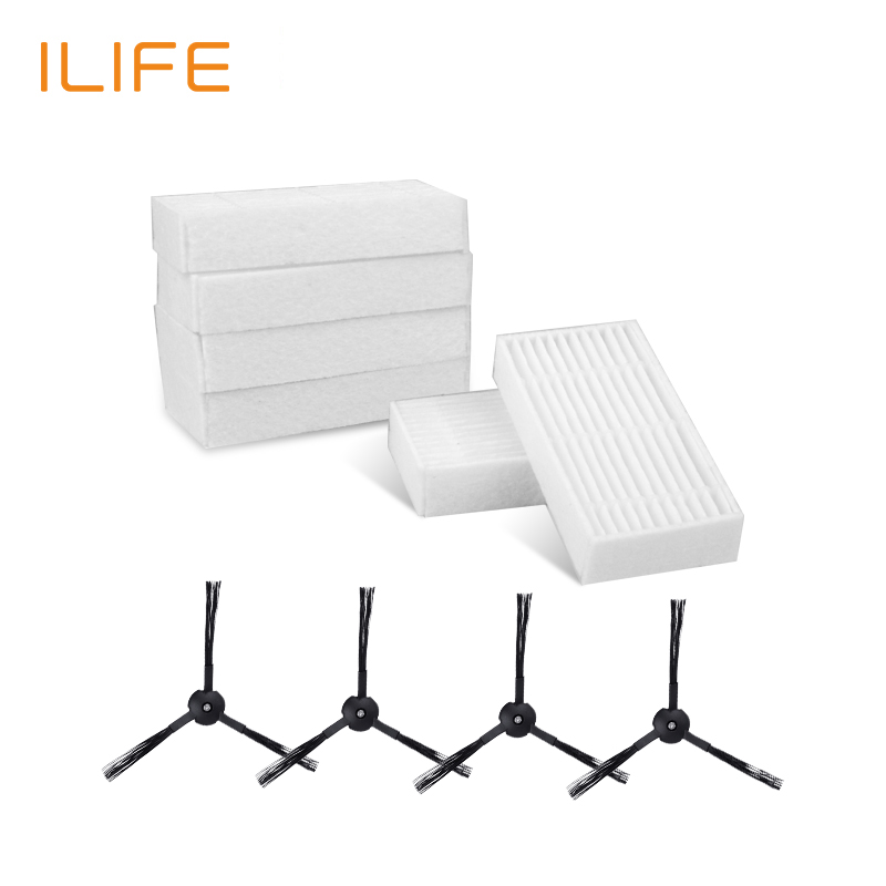 Accessories Parts Pack Sides Brush High performance filter for ILIFE V5s Pro