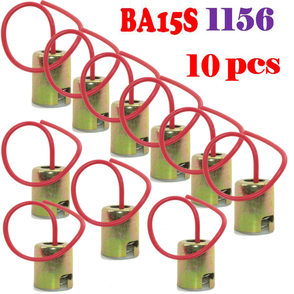 Enthusiastic 10pcs/lot 1156 S25 P21w 1073 1141 7506 Ba15s Light Bulb Socket Holder Wire Harness To Win A High Admiration Tools