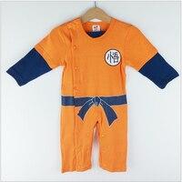 Baby Boy Romper Goku Rồng Ball Z Phim Hoạt Hình Dài Tay Áo Bé Romper Trẻ Sơ Sinh Trẻ Jumpsuit Võ Thuật Overalls Bé Trang Phục