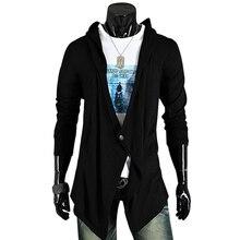 2016 Новый Бренд Кардиганы Мужчины Свитер Сплошной Дизайн мужская v-образный вырез Свитера Мода Хлопок Slim Fit Человек свитер