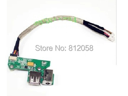 все цены на  WZSM Genuine New DC Power Jack USB Board for HP Pavilion DV6000 DV6500 DV6700 laptop  онлайн