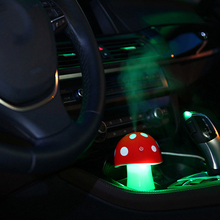 2016 Promotion New Led Essential Oil Mushroom Humidifier 5v Usb Mist Discharge Air Diffuser Atomizer Increase Humidity For Car