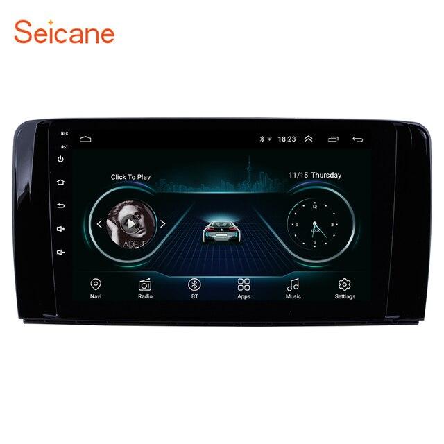 Seicane أندرويد 8.1 سيارة راديو رئيس وحدة لمرسيدس بنز R الفئة W251 R280 R300 R320 R350 R63 2006 2013 مشغل وسائط متعددة لتحديد المواقع
