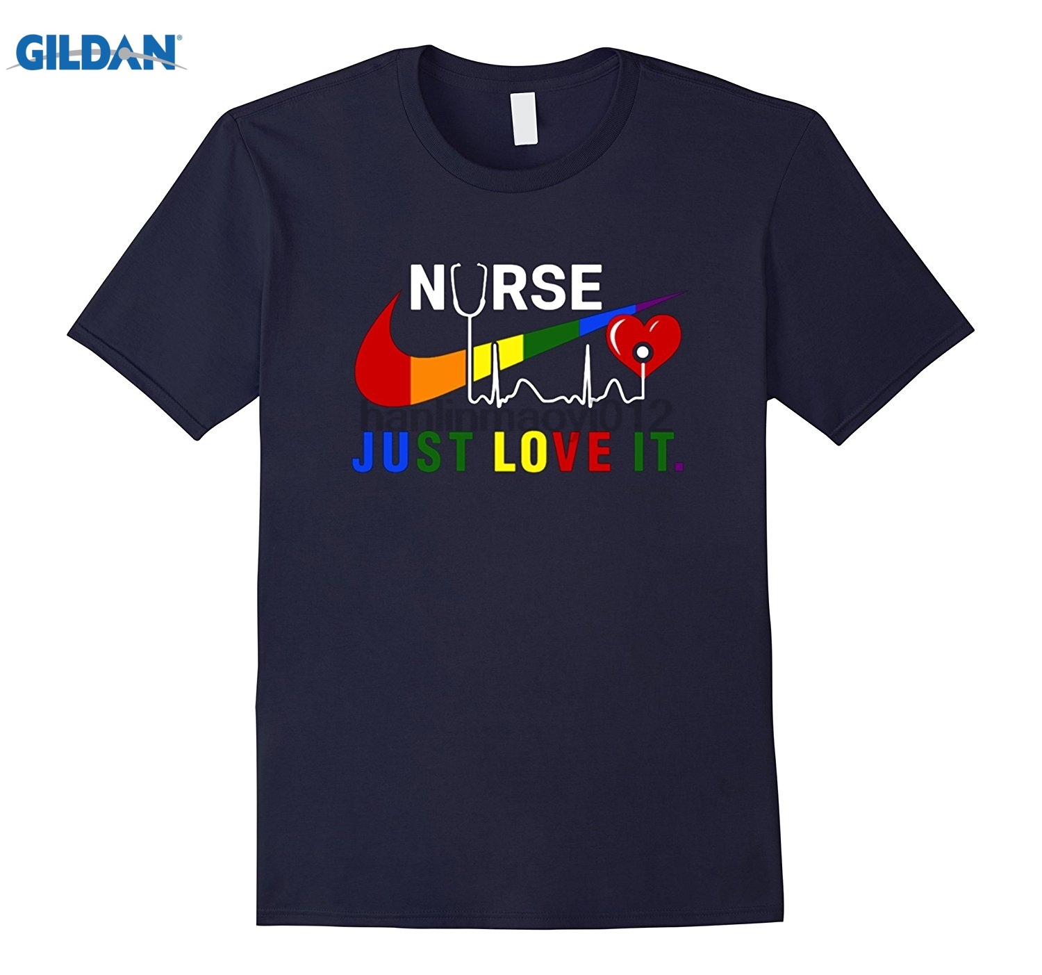 GILDAN Just Love It Funny Nurse T-shirt sunglasses women T-shirt Hot Womens T-shirt dres ...