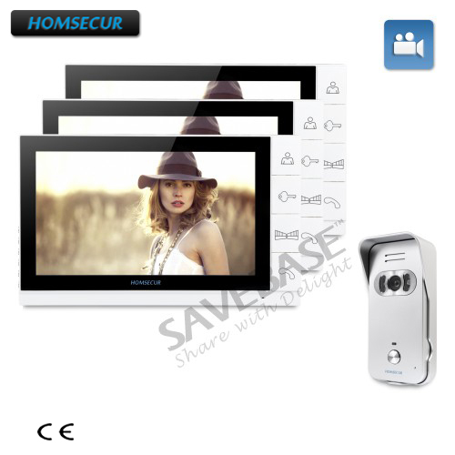 HOMSECUR 9 Hands-free Video&Audio Home Intercom+Silver Camera for Home Security