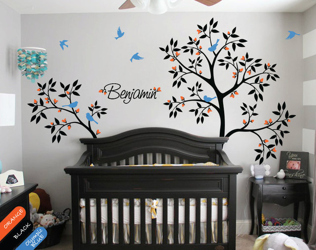 Uitstekend Stickers Babykamer : Muurstickers voor de jongens kinderkamer en babykamer stickerkamer