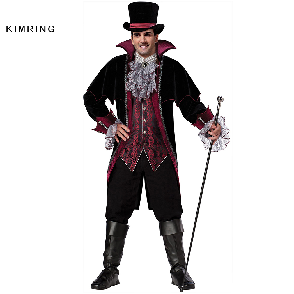 kimring vampire halloween costume gothic versailles masquerade party adult man costume fantasia carnival evil devil cosplay - Mystical Halloween Costumes