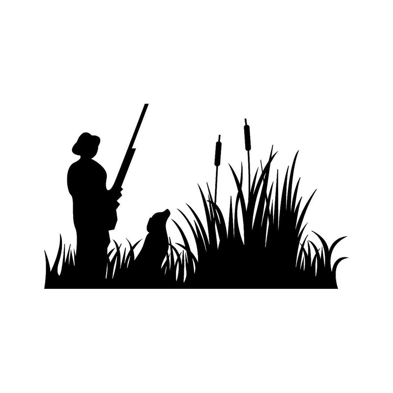 10 2 16 5cm hunter wild duck hunting car decals vinyl for Duck hunting mural