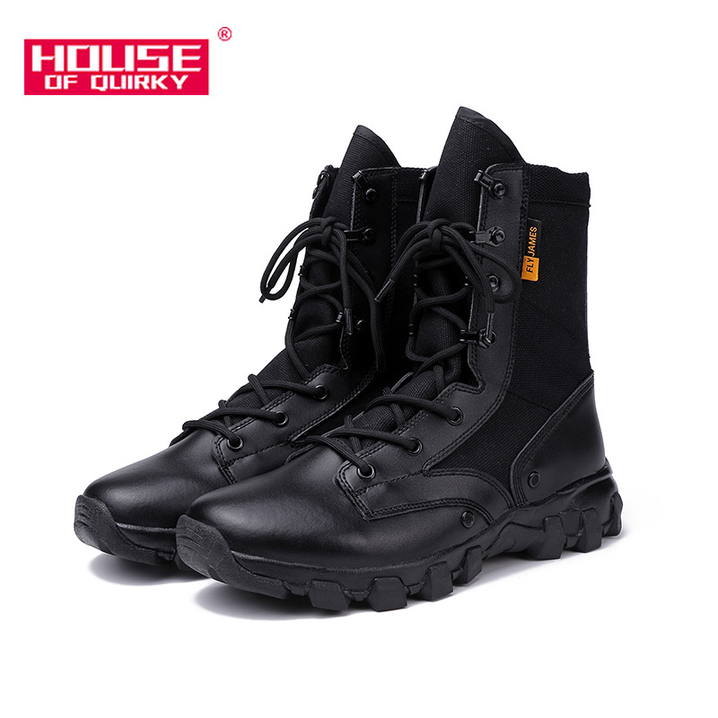 Men Army Boots Military Desert Tactical Boot Man Motorcycle Boots Outdoor Shoes Men High Help Army Boots Lace Up Rubber Sole