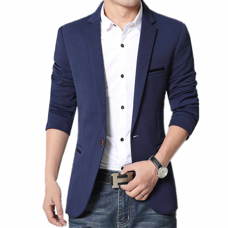 089a77ce8d65 2019 new men's fashion casual long sleeve coat solid color suit coat blazers  / male casual