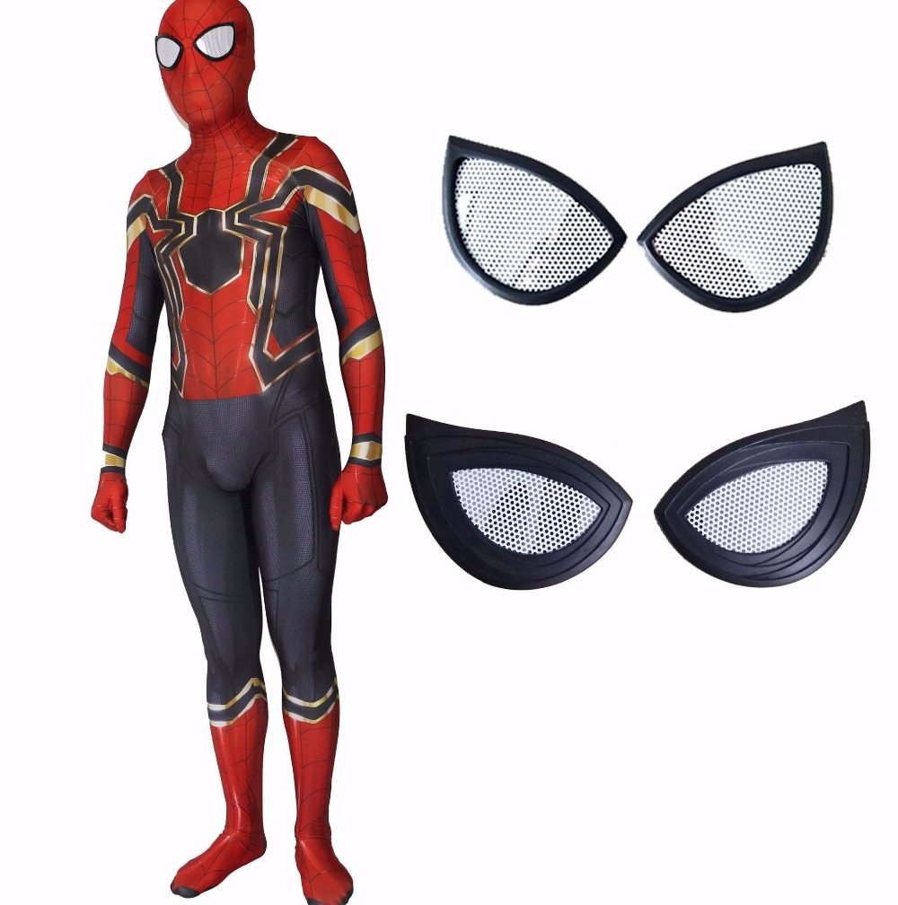 3D digital printing Spider Man Spiderman Homecoming Cosplay Costume Zentai Iron Spider Man Superhero Bodysuit Suit Jumpsuits