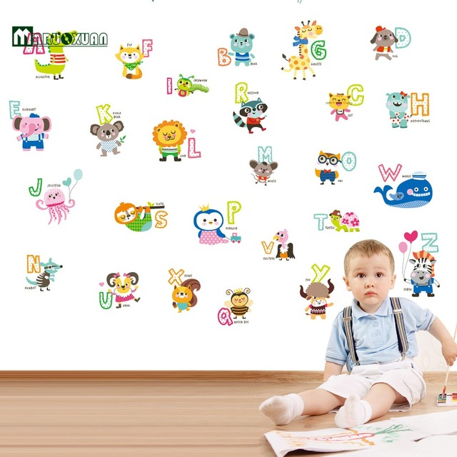 Kindergarten Kinder Cartoon Aufkleber Kinderzimmer Wandaufkleber ...