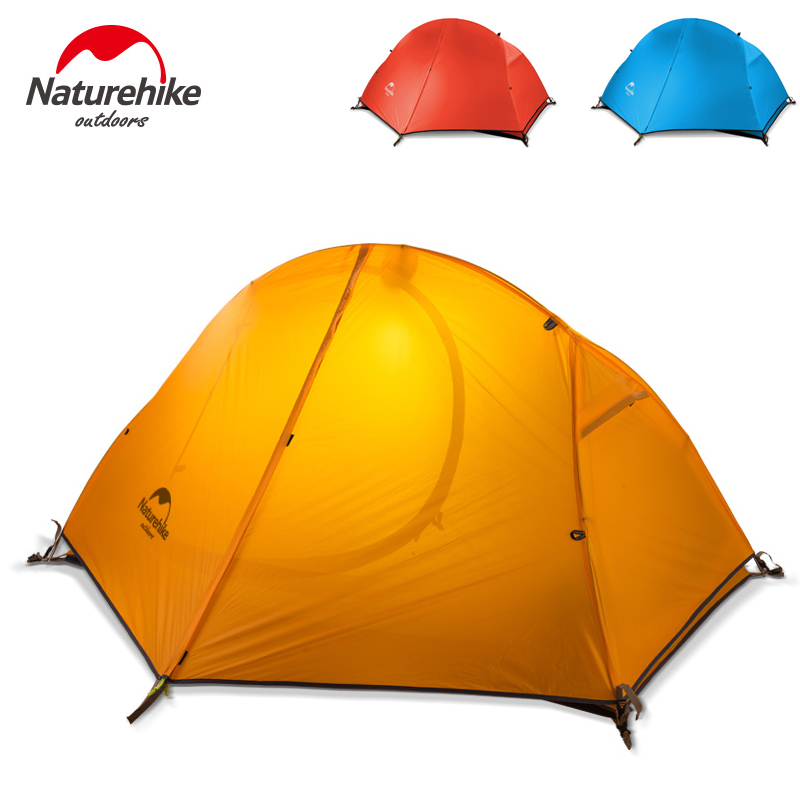 Naturehike Ultralight Tent Orange/Blue/Red With Free Footprint Included Perfect For Backpacking Kayaking Camping And Bikepacking footprint reading library 3000 alternative energy [book with multi rom x1 ]