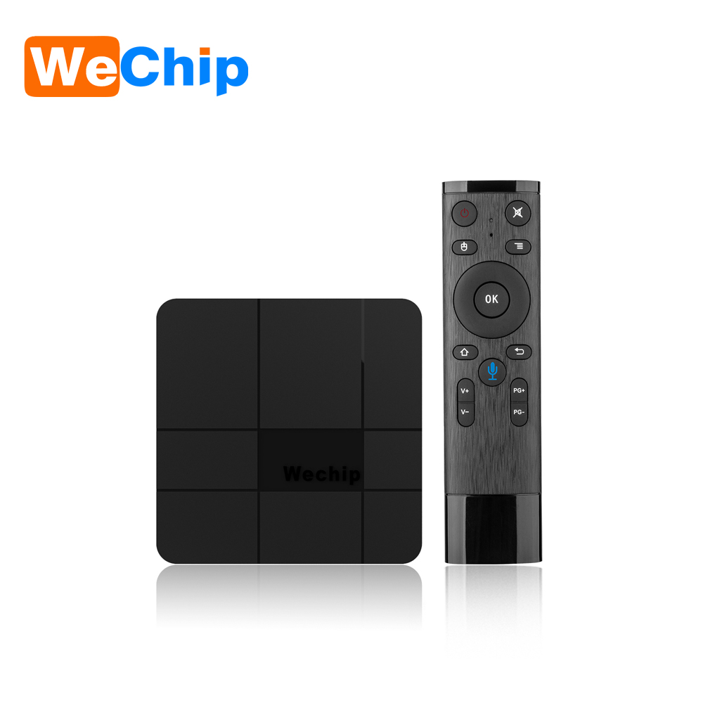 Wechip V8 plus google voice control tv box 4K TV Box Android 7.1 Amlogic S905w set top box 4k media player pk TX3MINI X96MINI