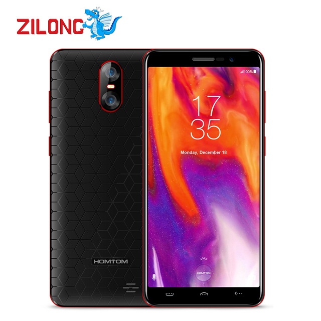 HOMTOM S12 5.0 Inch 18:9 Display Android6.0 3G Smartphone 2750mAh 1GB RAM 8GB MT6580 Quad Core 8MP Three Cams OTA GPS Cellphone