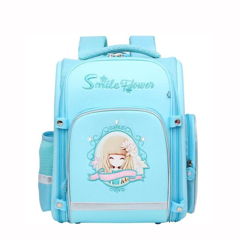 NEW Orthopedic School Bags For Girls Cartoon grils Pattern Backpacks waterproof EVA School Bags Student Satchel