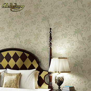 beibehang tapety elegant and fresh pastoral flower wall paper modern fashion bedroom living room backdrop nonwoven 3d wallpaper beibehang wall paper. Puna American country flower wallpaper Non-woven wallpaper backdrop living room bedroom bedside shipping