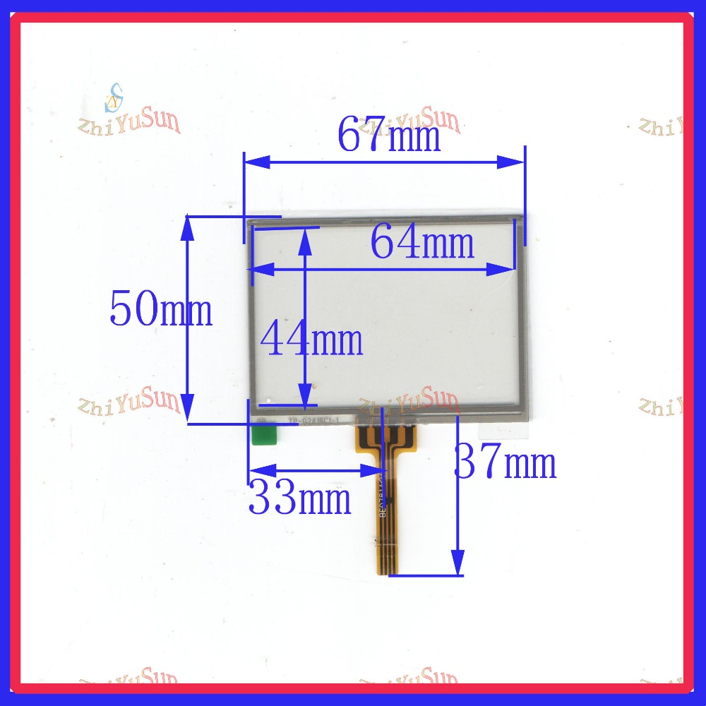ZhiYuSun 3inch 67*50 4 wire TOUCH SCREEN width 50mm length 67mm for gps glass touch panel this is ompatible zhiyusun 4 3 inch 103mm 63mm 4 wire touch screen for gps glass 4043058 4 3 touch panel 103 63