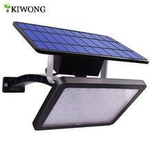 Lámpara solar de jardín de 48 LED, proyector solar para jardín de 48 LED, iluminación intensa y ajustable, perfecta para exteriores, impermeable para patio de pared