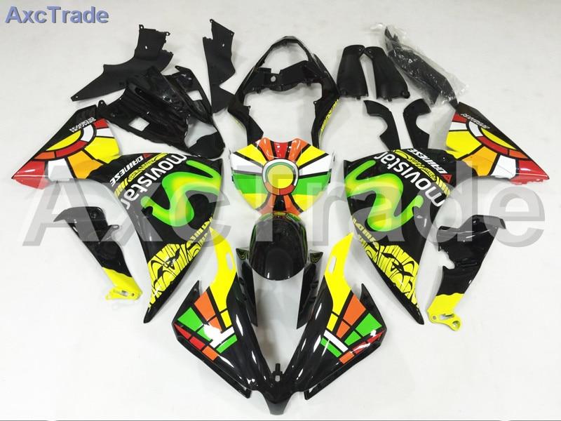 Мотоцикл Обтекатели для Ямаха YZF-Р1000 и YZF-R1 и YZF 1000 2012 2013 2014 YZF1000 R1 и АБС-пластик инъекции обтекатель кузова черный