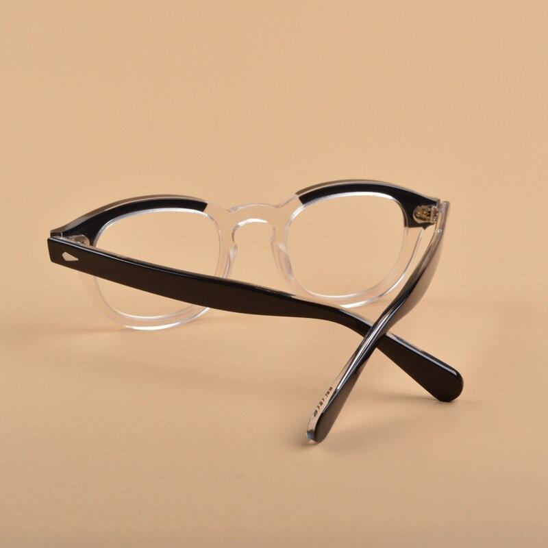 Image 5 - Johnny Depp Glasses Optical Glasses Frame Men Women Computer Transparent Eyeglass Brand design Acetate Vintage Fashion Q313 2Mens Eyewear Frames   -