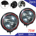 Taitian HID Work Light 9Inch 75W Spot Driving Work Lamp Off-Road SUV Car Boat Lamps 2pcs