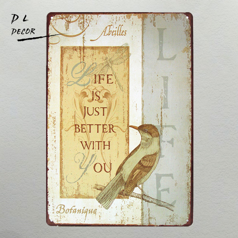 DL LIFE IS JUST BETTER WITH YOU Metal TIN SIGN Vintage Wall Decor ...