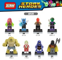 Killer Croc Starfire Saturn Girl Robin Blue Beetle  DC Super Hero  Minifigures Learning Toys 80pcs Building Blocks Kids Toy Gift
