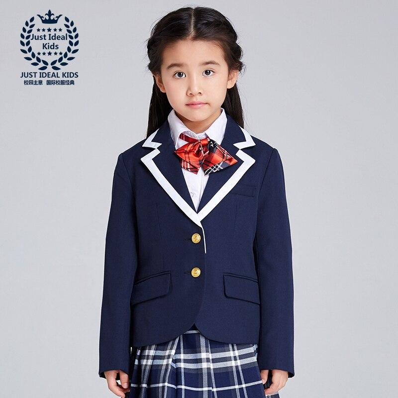 (only One Jacket) Girl Coat School Uniforms Kids Suit Spring Autumn Jacket Elegant Suit High Quality 1030