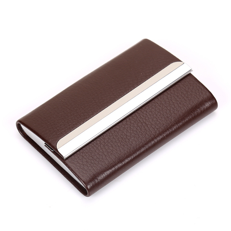 Weduoduo New Business ID Credit Card Holder For Women Men Fashion Brand Metal Aluminum Case PU Leather Porte Carte