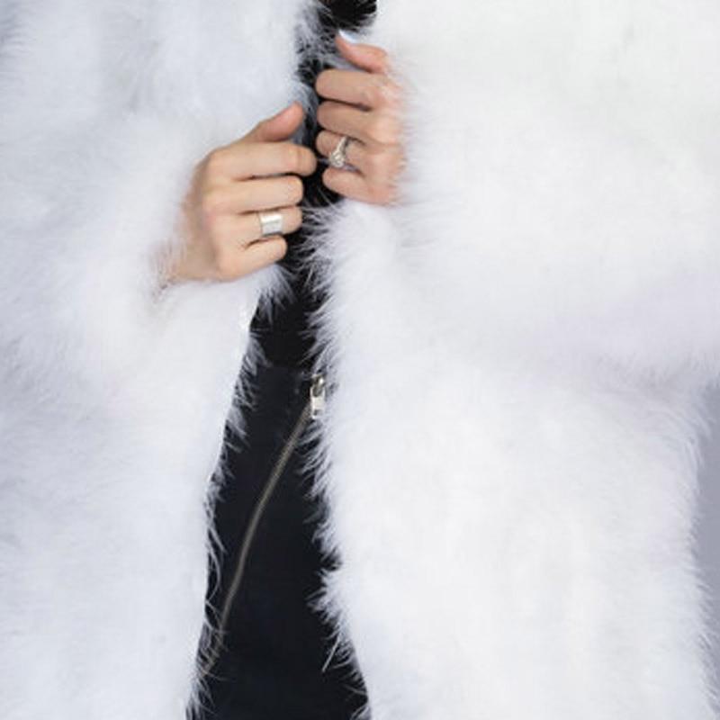 Новинка, жилет из страусиного волоса 70 см, длинная шапка, маленькая, свежая,, индейка, пуховая жилетка, натуральное меховое пальто, зашифрованное, ручное плетение - Цвет: as picture 07