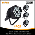 (4PCS) 18Pcs 15W LED Par Light RGBWA 5in1 Color Par Can LED DJ Wash Light DJ Party