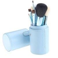 12Pcs Set Makeup Powder Foundation Eyeshadow Eyeliner Lip Makeup Brushes Container Tube Brushes Set With Box
