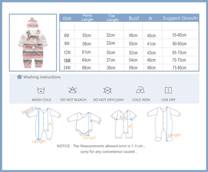 Image 5 - 2020 Fashion Baby Girl Clothes Sets Spring Autumn Clothing long sleeve Romper with hat Baby Set Clothes newborn clothesClothing Sets   -