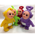(1 piece) 30cm Cute Lovely Teletubbies Walking Singing TV Tubbies Action Figure Toys 3D Dolls Kids Gift Battery Operated