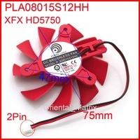 Frete Grátis PLA08015S12HH 12V 0.35A 75mm 47x HD5750 47x47mm Para XFX Placa Gráfica Arrefecimento ventilador Fio 2 2Pin|75mm fan|fan 75mm|cooling fan 12v -