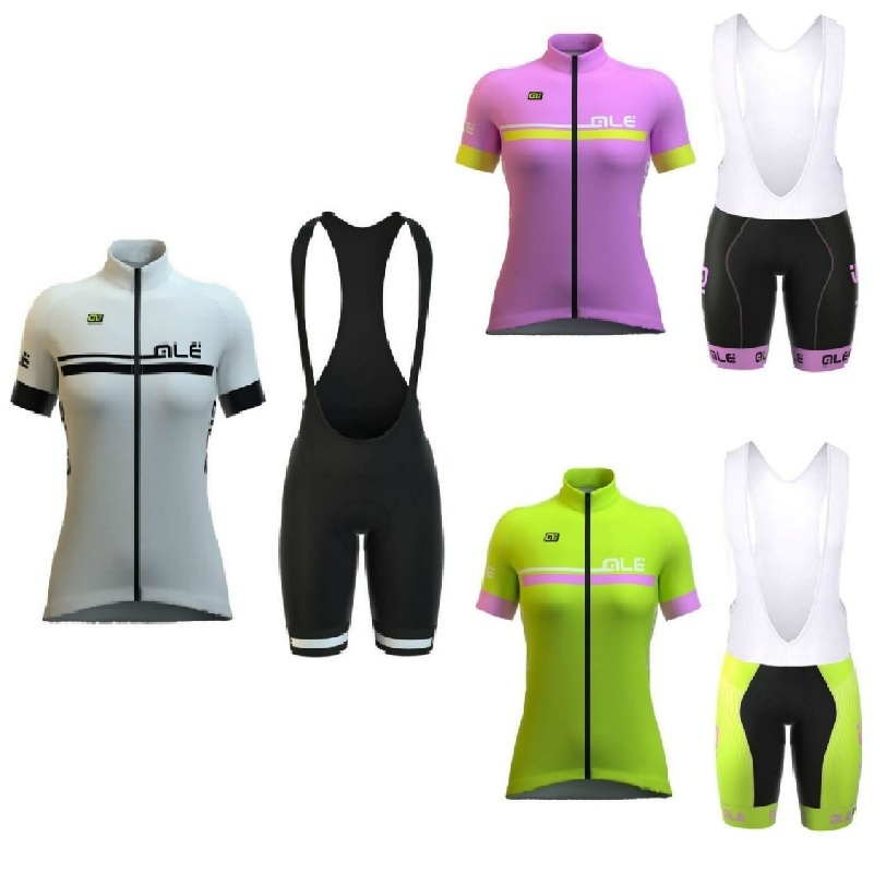 New! 2018 pro team womens short sleeve cycling jersey set ropa ciclismo mujer summer breathable bike clothing cycle bib shorts