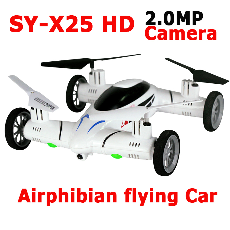 SongYang X25 X25HD 2.4G 8CH 6-Axis with 2.0MP HD Camera Speed Switch With 3D Flips RC Quadcopter Airphibian Flying Car RTF
