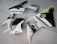 Лидер продаж, Обтекатели для YAMAHA YZF R6 2005 YZF R6 05 YZF600 YZFR6 черный, белый цвет после Рынок Обтекатели (Термопластавтоматы)
