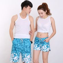 2017 New Summer Beach Shorts Couple suit Wear Fashion Print Causal Tracksuit Unisex Casual Board Shorts Plus Size(China)