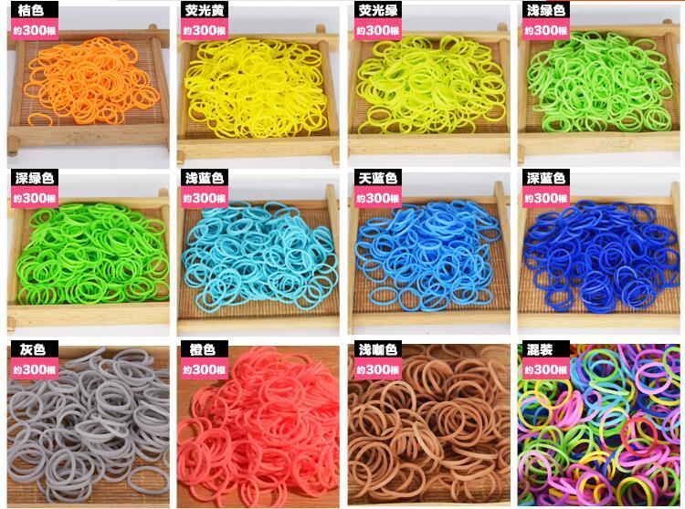 Плетения резинки девушки DIY ручной вязальной Вязальная машина Радуга резинкой ткацкий станок полос